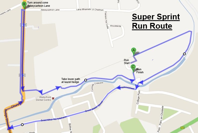 Super Sprint Run Route