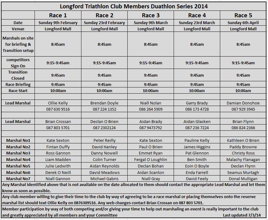 2014 marshal list 7-3-14